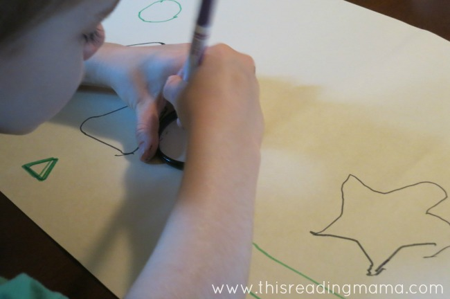 tracing shapes ~ great for fine motor | This Reading Mama