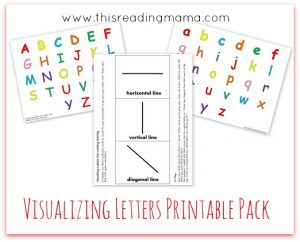 FREE Visualizing Letters Printable Pack | This Reading Mama