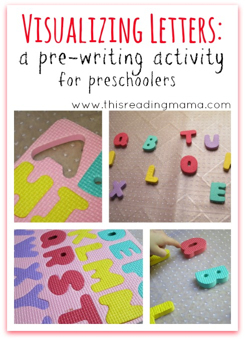 Visualizing Letters ~ A Pre-Writing Activity for Preschoolers | This Reading Mama