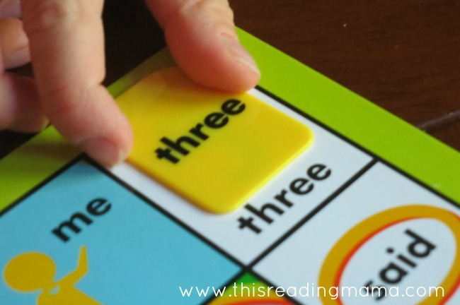 Thinkfun's Zingo Sight Word Game