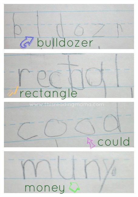 Invented Spelling Examples in First Grade | This Reading Mama