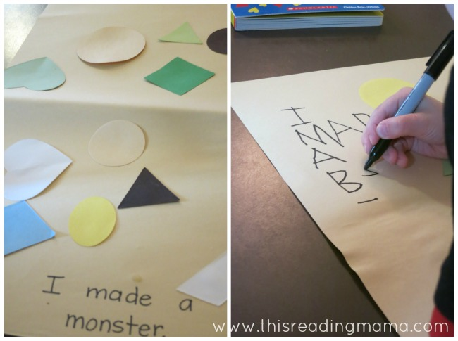 preschool writing based on a picture | This Reading Mama