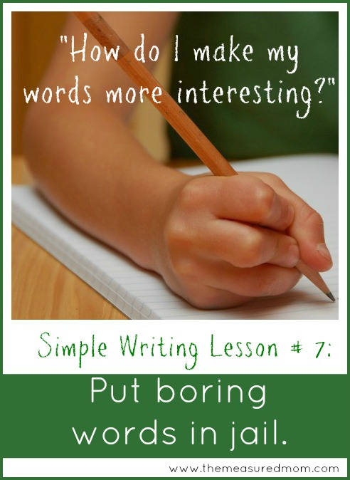 Build Vocabulary: A Simple Writing Strategy {Week 7}