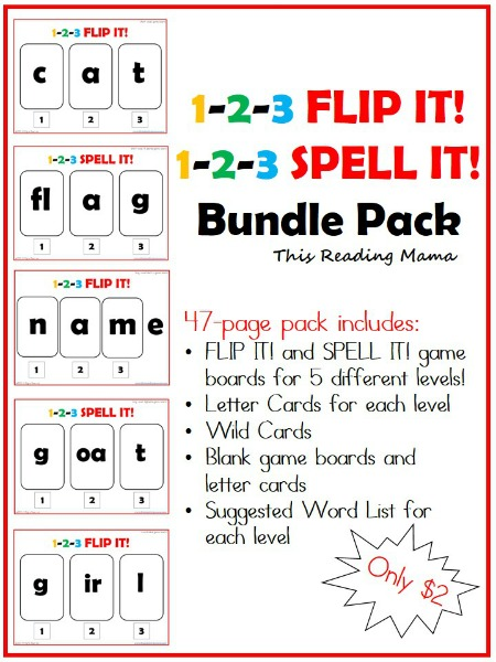 Free Worksheets vowel consonant e worksheets : 1-2-3 FLIP It! {a Short Vowel Review Game}