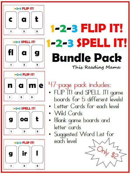 1 2 3 Flip It A Short Vowel Review Game