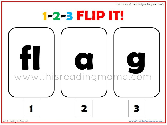 1-2-3 Flip It with Beginning Blends and Digraphs | This Reading Mama
