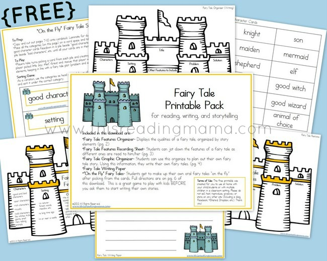 image about Printable Fairy Tales named Cost-free Fairy Story Printable Pack