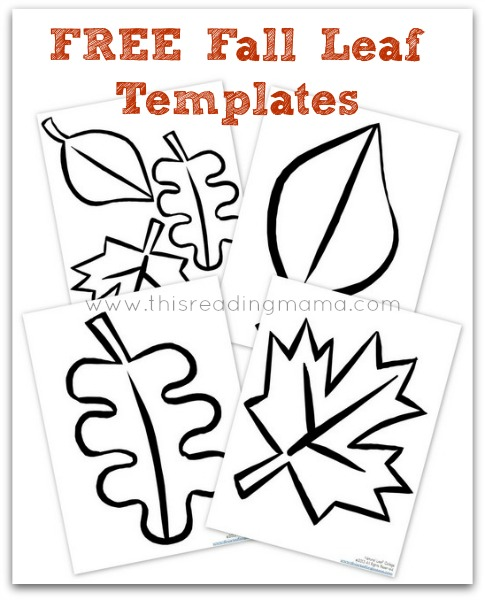 Natural fall leaf collages free printable included for Autumn leaf template free printables