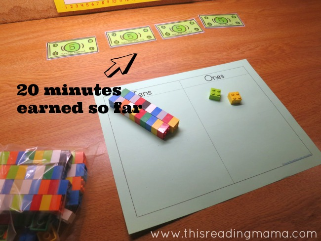 using reward cards to earn screen time based on attitude and behavior