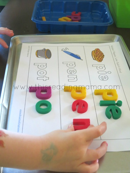 FREE Magnetic Alphabet Build-a-Word | This Reading Mama