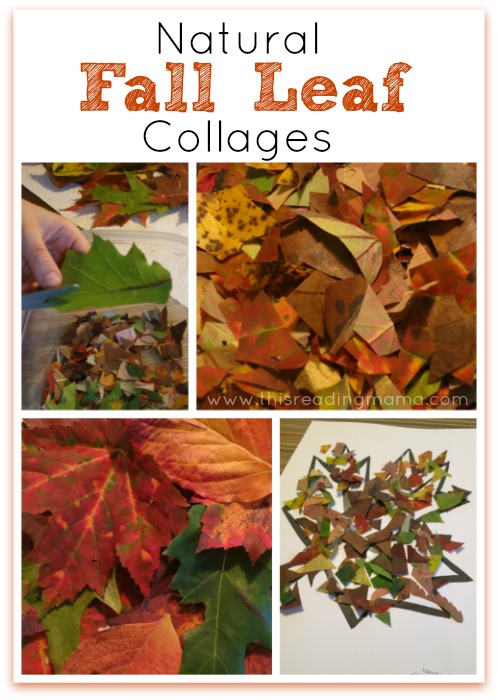 Natural Fall Leaf Collages {FREE Printable Included}