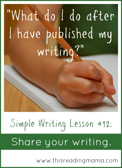 Share Your Writing after Publishing | This Reading Mama