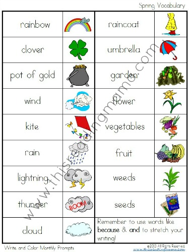 Vocabulary Words for Each Season in Bundle Pack | This Reading Mama