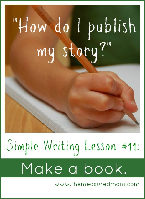 simple writing lesson #11 - make a book