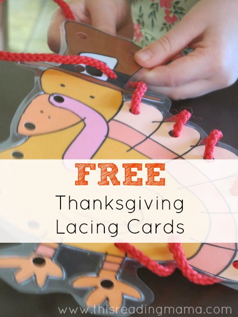 FREE Thanksgiving Lacing Cards {and another goodie}