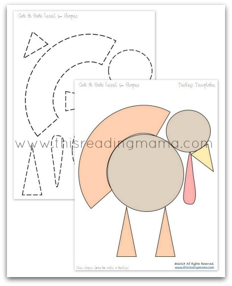 make a turkey out of shapes | This Reading Mama