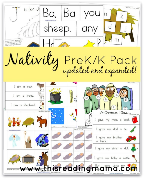 FREE Nativity Pre-K/K Pack | This Reading Mama
