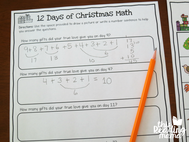 12 days of christmas activity question page - How Many Gifts In 12 Days Of Christmas