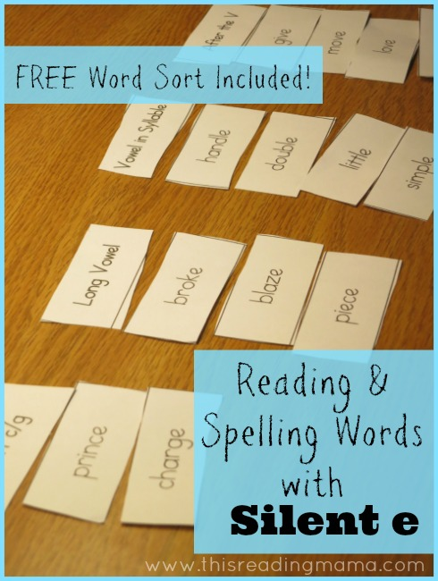 photograph regarding Printable Word Sorts named Looking through and Spelling Terms with Peaceful e