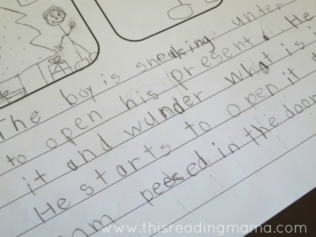 writing sentences to match your pictures | This Reading Mama