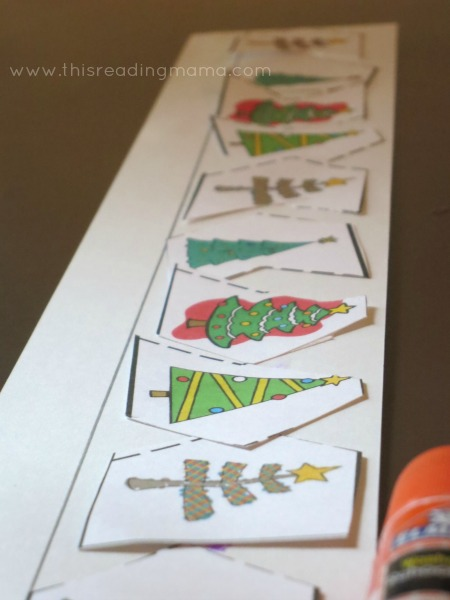 cut and make patterns with Christmas trees