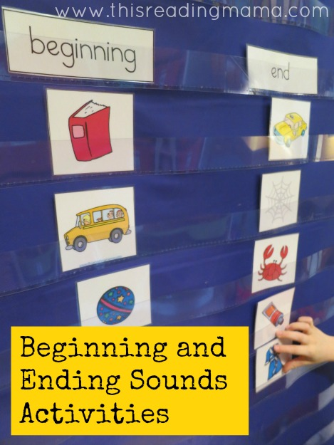 Beginning and Ending Sounds Listening Activity {with free printable pack} | This Reading Mama