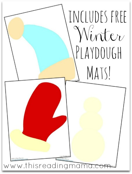 Christmas and Winter Playdough Mats {free download}