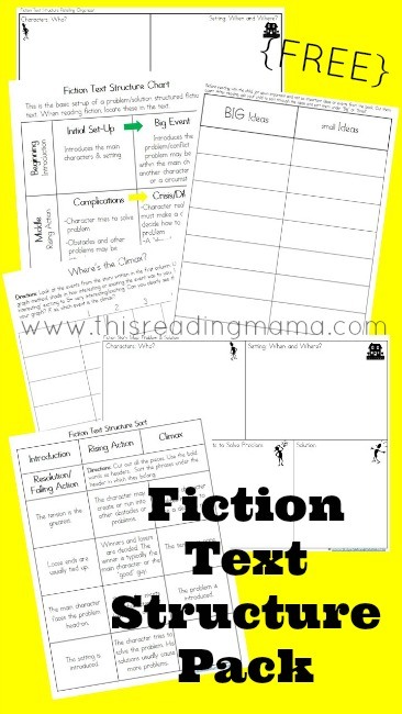 Fiction Text Structure Resources