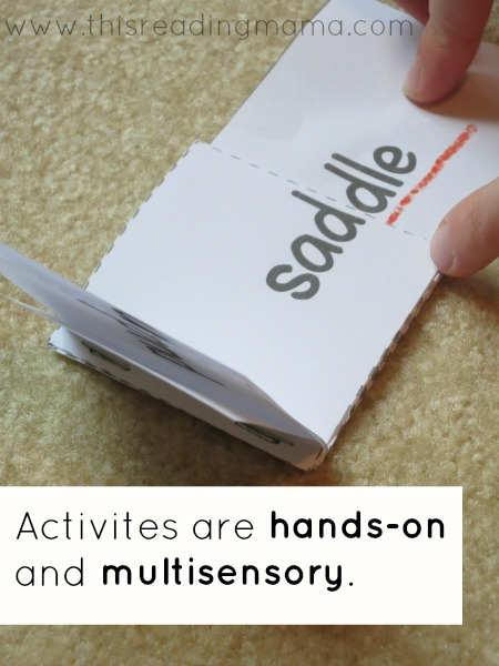 activities are hands-on and multisensory