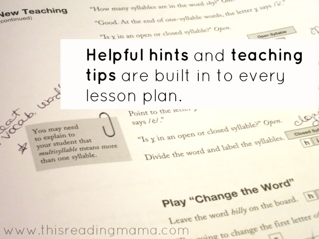 helpful hints and teaching tips are included