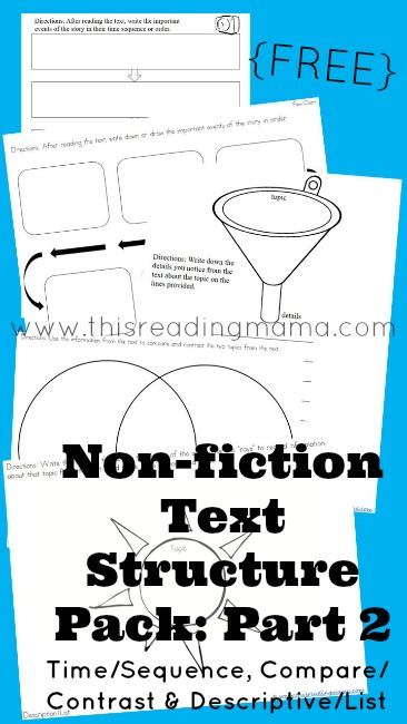 FREE Non-Fiction Text Structure Pack: Part 2 | This Reading Mama