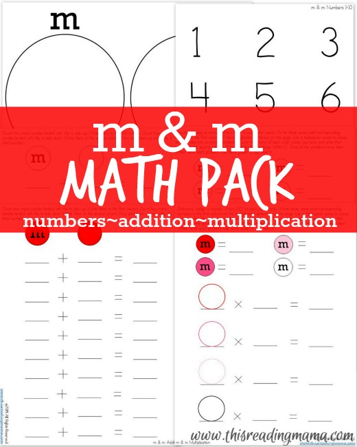 Math for Multiple Ages {with m & m candy}