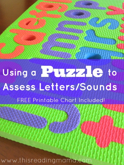 Using a Puzzle to Assess Letter Names and Letter Sounds {so easy!} | This Reading Mama