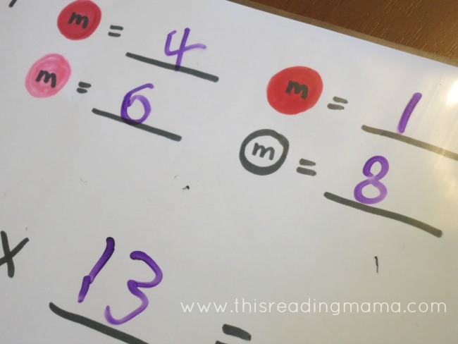 m & m multiplication key | This Reading Mama