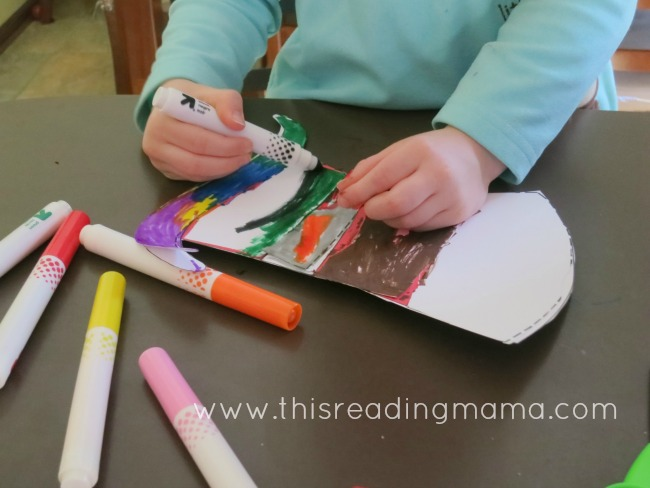 coloring the Dr. Seuss hat | This Reading Mama
