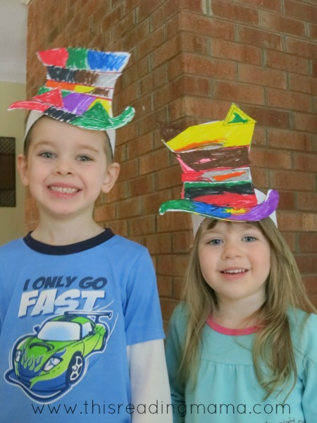 DIY Cat in the Hat hats for Dr. Seuss' birthday | This Reading Mama