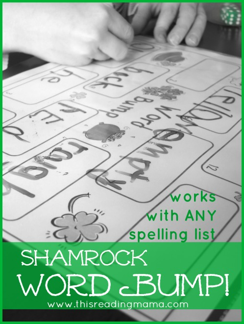 Shamrock Sight Word Game - Word Bump from This Reading Mama