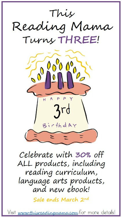 This Reading Mama Birthday Sale- Ends March 2nd