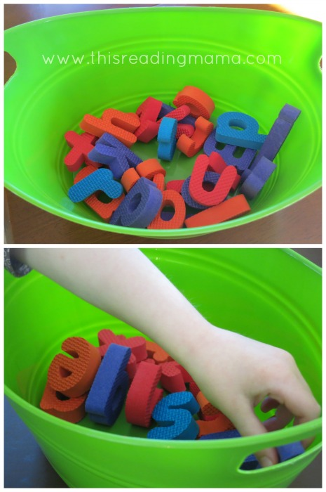 Use the pieces from abc puzzles to assess letter knowledge