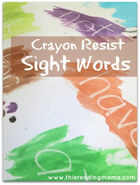 Crayon Resist Sight Words | This Reading Mama