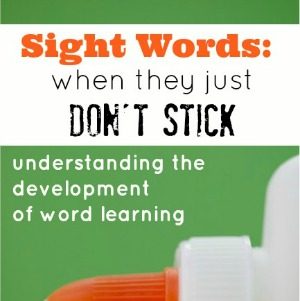 When Sight Words Don't Stick