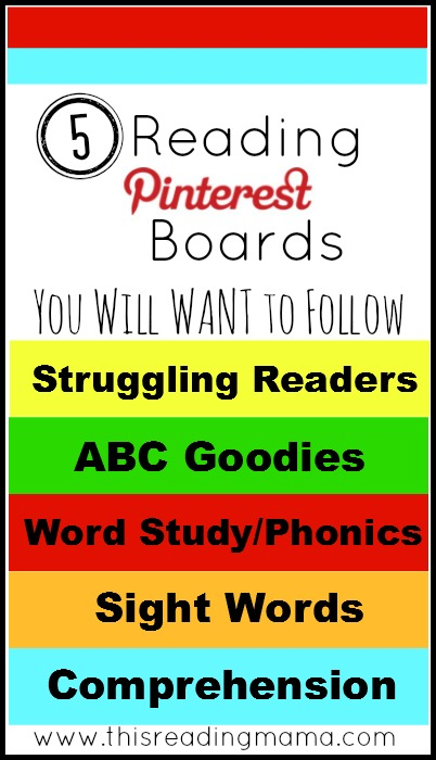 5 Reading Pinterest Boards You Will WANT to Follow | This Reading Mama