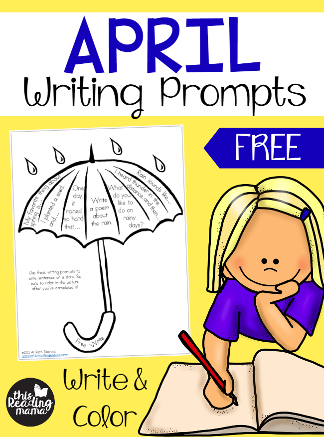 april writing prompts Amuse your young 4th grade writers with these unique writing prompts themed around the month of april.