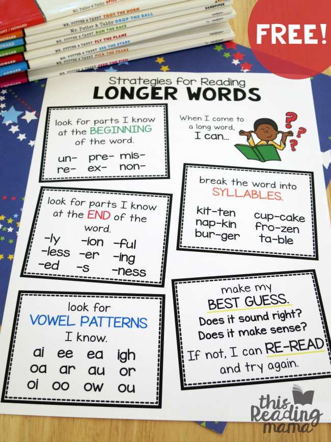 FREE Strategies for Reading Longer Words Pack (Updated)-This Reading Mama