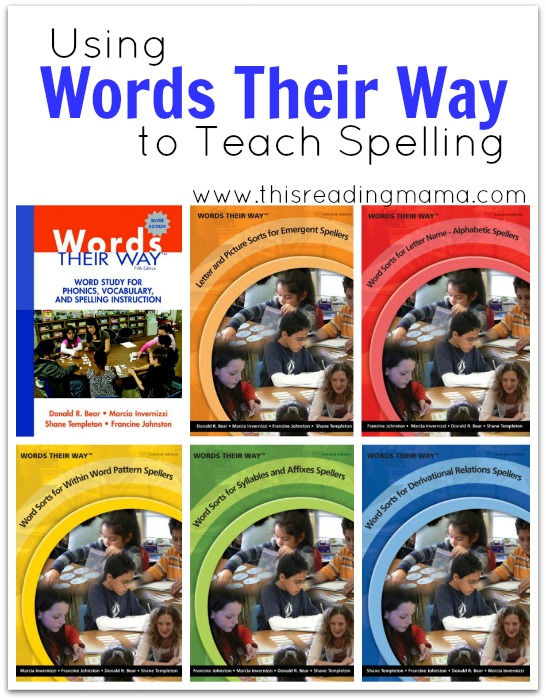 Using Words Their Way to Teach Spelling | This Reading Mama