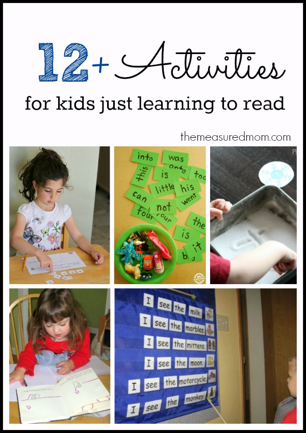 activities for kids just learning to read