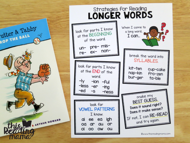 keep the strategies for longer words page handy when reading