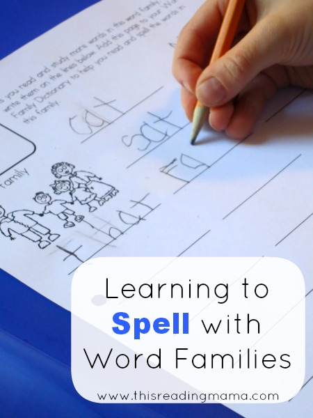 Learning to Spell with Word Families | This Reading Mama