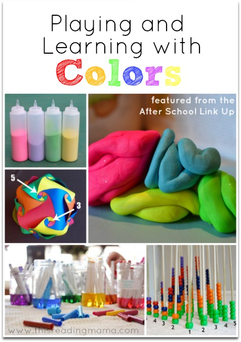 Playing and Learning with Colors {and After School Link Up} | This Reading Mama