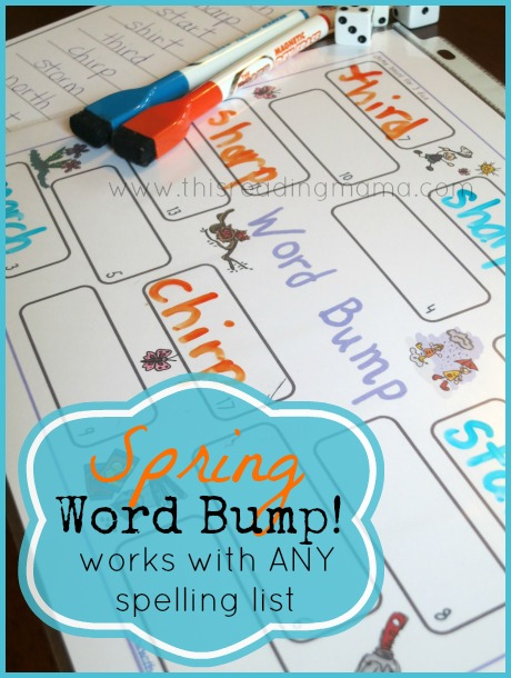FREE Phonics Game for Spring (Word Bump!) | This Reading Mama